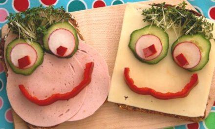 Lustige Brotgesichter