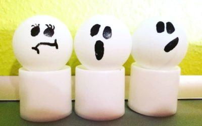 DIY Halloween Geister Teelichter