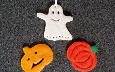 DIY Halloween Salzteig-Anhänger