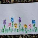DIY Blumenwiese Stempeln
