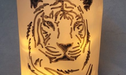 "DIY Later­ne ""Tiger"""